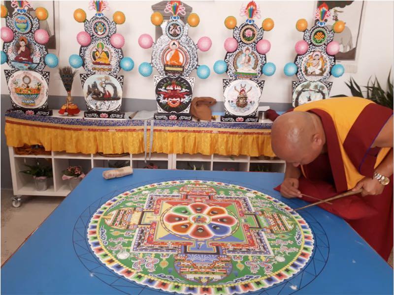 """""""Mandala del Buda de la Medicina"""" - Meditación, Sonoterapia y yoga en Tenerife Sur - Centro Budista """"Ghe Pel Ling"""" Canarias"""